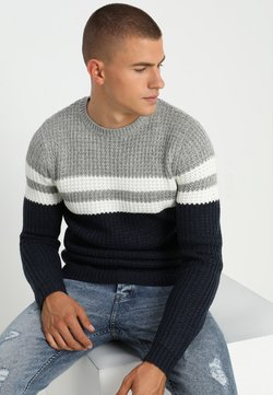 Only & Sons - ONSLAZLO STRIPED CREW NECK - Strickpullover - blue nights