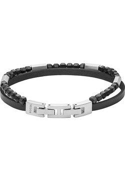 Fossil - FOSSIL HERREN-HERREN LEDER - Armband - schwarz