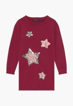 Blue Seven - KIDS SEQUIN STARS - Jumper dress - bordeaux