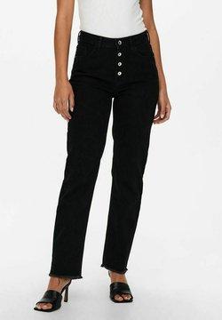 JDY - WILLIE LIFE HW - Jeansy Straight Leg - black denim
