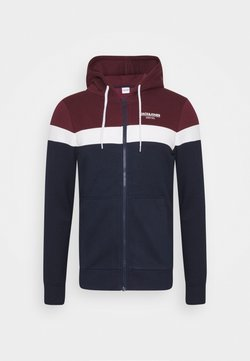 Jack & Jones - JJSHAKER ZIP HOOD - Sweatjacke - port royale