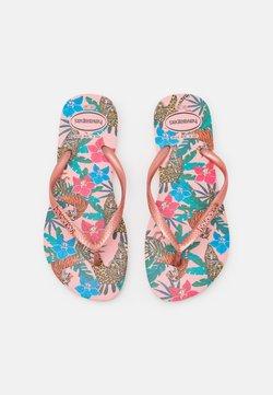 Havaianas - SLIM FIT TROPICAL - Teensandalen - ballet rose/pink retro metallic