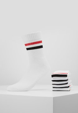 Pier One - 5 PACK - Socken - white/red/black