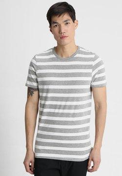 Jack & Jones - JJESTRIPE CREW NECK - T-shirt con stampa - white