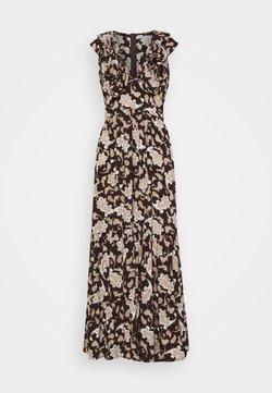 Glamorous Petite - RUFFLE MIDAMI DRESSES WITH PLUNGING NECKLINE WIDE STRAPS  - Maxikleid - dark brown