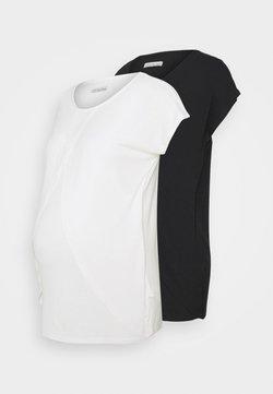 Anna Field MAMA - NURSING 2 PACK - Camiseta estampada - black/white