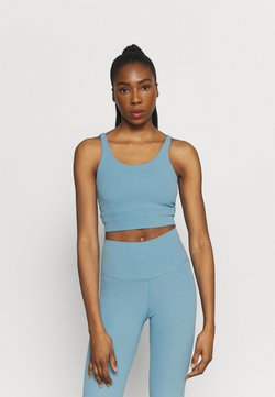 Nike Performance - THE YOGA LUXE CROP TANK - Toppi - cerulean/light armory blue
