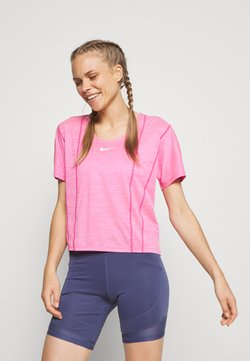 Nike Performance - CITY SLEEK - Camiseta básica - hyper pink/white