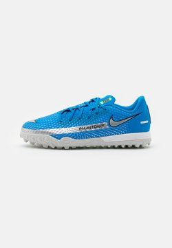 Nike Performance - JR PHANTOM GT ACADEMY TF UNISEX - Hiekkakengät - photo blue/metallic silver/rage green