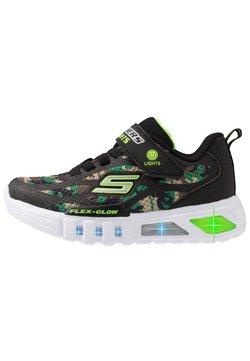 Skechers - FLEX-GLOW - Sneaker low - black/lime