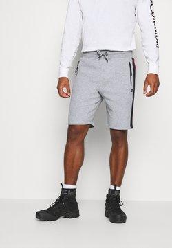 Luhta - LUHTA KIRJAVALA - Pantalón corto de deporte - light grey