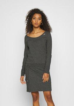 Ragwear - PENELOPE - Jerseykleid - mottled dark grey