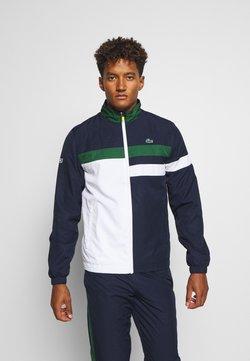 Lacoste Sport - TENNIS TRACKSUIT - Survêtement - navy blue/white/green/wasp