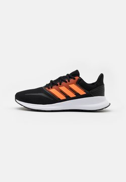 adidas Performance - RUNFALCON - Zapatillas de running neutras - core black/signal orange/footwear white