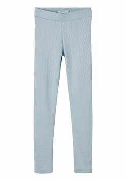 Name it - MIT RELIEF LEOPARDENMUSTER - Leggings - celestial blue