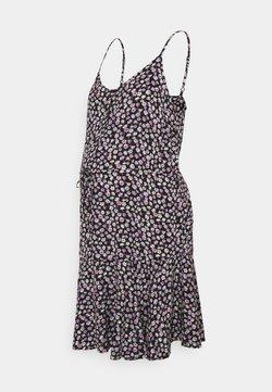 Pieces Maternity - PCMNYA SLIP BUTTON DRESS - Freizeitkleid - black
