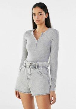 Bershka - Jeans Shorts - grey