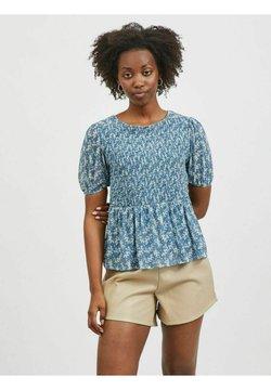 Vila - T-Shirt print - captains blue