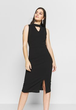 WAL G. - HOLE NECK MIDI DRESS - Vestido vaquero - black