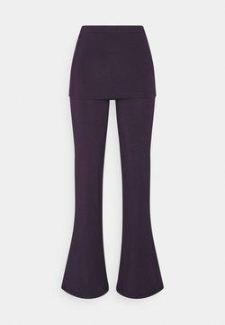 Curare Yogawear - PANTS SKIRT - Jogginghose - dark aubergine