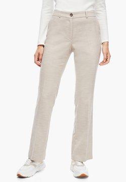 s.Oliver BLACK LABEL - Pantalon classique - beige melange