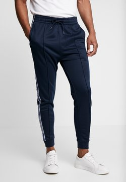 Abercrombie & Fitch - LOGO TAPE TRICOT - Jogginghose - navy
