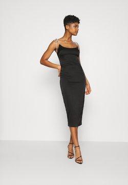 Missguided - COSTELLO TIE STRAP MIDAXI DRESS - Cocktailjurk - black