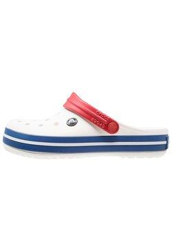 Crocs - CROCBAND UNISEX - Clogs - white/blue jean