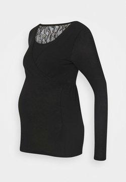 Mamalicious Curve - MLARTUR TESS - Camiseta de manga larga - black/solid