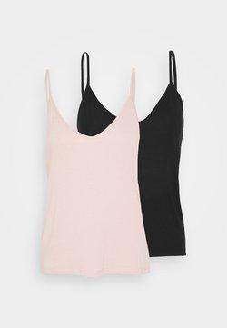 Even&Odd - 2 PACK - Débardeur - black/pink