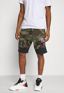 Jordan - CAMO SHORT - Pantalon de survêtement - olive/black
