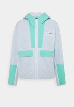adidas Performance - TERREX SHERPA HOODED - Fleecejacke - acid mint/halo blue