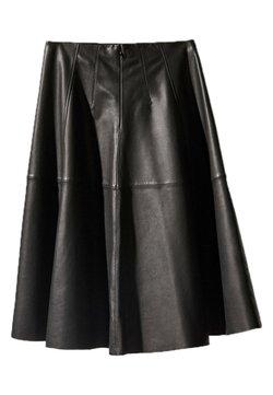 Massimo Dutti - A-linjekjol - black