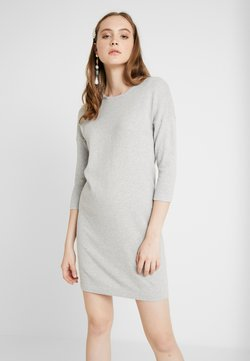 Vero Moda - VMMINNIECARE O NECK DRESS - Vestido de punto - light grey melange