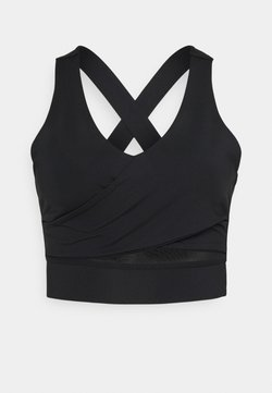 South Beach - WRAP CROP - Sport BH - black