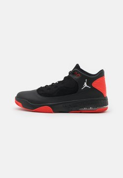 Jordan - MAX AURA 2 - Korkeavartiset tennarit - black/white/chile red
