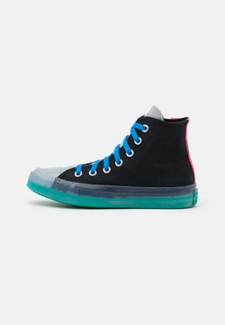 Converse - CHUCK TAYLOR ALL STAR PULL TAB UNISEX - Korkeavartiset tennarit - black/court green/hyper pink