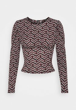ONLY Petite - ONLPELLA PUFF  - Bluzka z długim rękawem - black