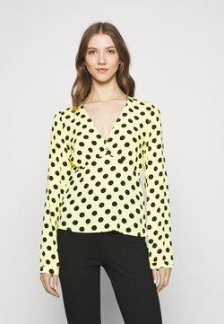 Colourful Rebel - BODHI POLKADOT V NECK BLOUSE - Bluse - yellow