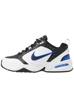 Nike Sportswear - AIR MONARCH IV - Sneaker low - black/white/racer blue