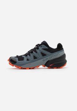 Salomon - SPEEDCROSS 5 - Zapatillas de trail running - black/stormy weather/red orange