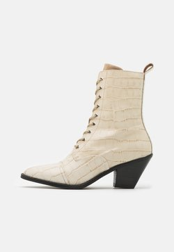 YAS - YASTRINITY BOOTS - Veterboots - creme