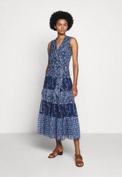 Lauren Ralph Lauren - CRINKLE DRESS - Freizeitkleid - blue/multi