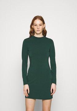 Even&Odd - Mini high neck long sleeves bodycon dress - Vestido de tubo - dark green