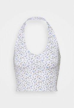 Hollister Co. - BARE HALTER - Top - white pattern