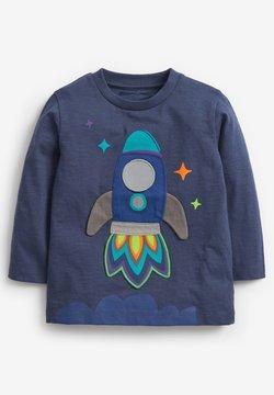 Next - APPLIQU - Camiseta de manga larga - blue