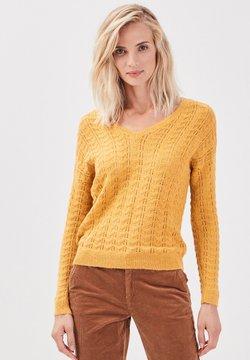 BONOBO Jeans - LANGARM - Strickpullover - jaune