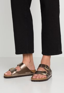 Birkenstock - ARIZONA - Chaussons - electric metallic taupe