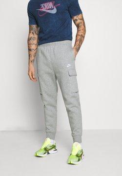 Nike Sportswear - CLUB PANT  - Jogginghose - grey heather/matte silver/white