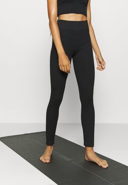 South Beach - SEAMLESS HIGH WAIST - Medias - black